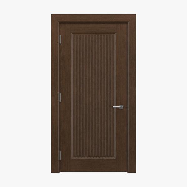 3D classical interior door
