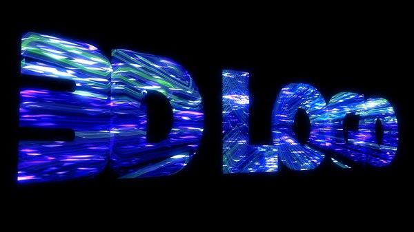 intro logo animation 3D model