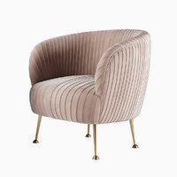 Faith Powder Pink Pleated Chair