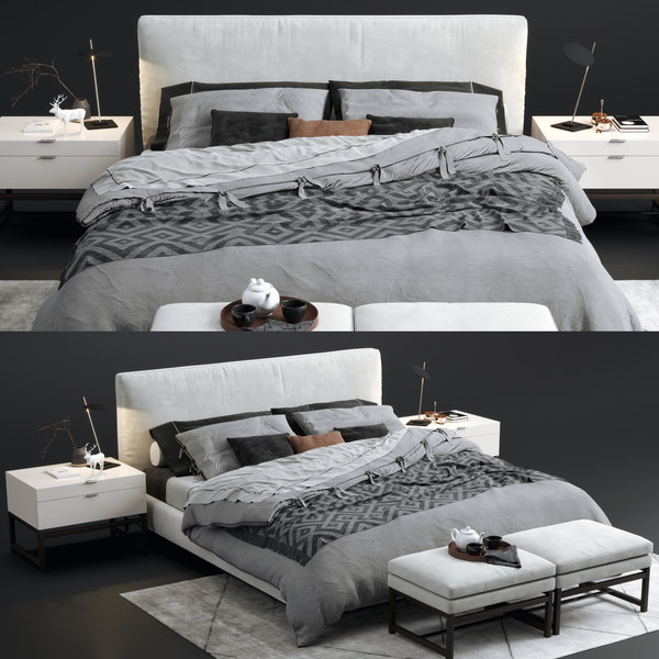 minotti andersen bed 3D model