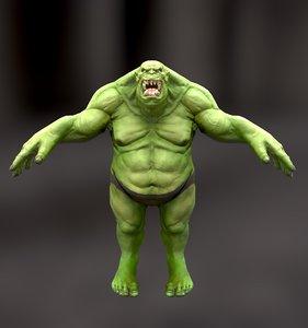 3D orc character model
