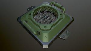 3D model metalness ready blender