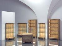 showcase case museum 3D model