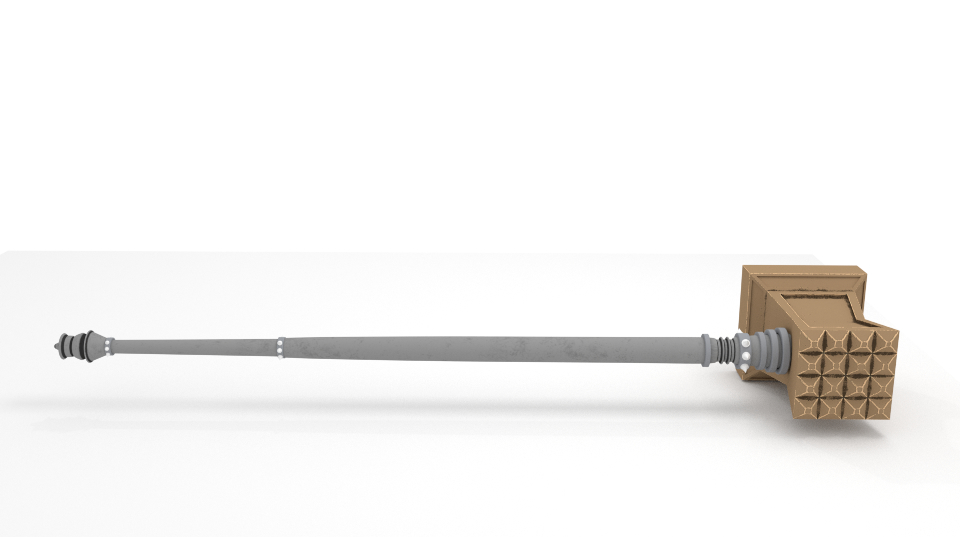 3D sledgehammer sledge hammer model