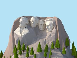 3D model cartoon united states rushmoor