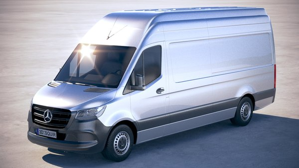 3D model mercedes-benz sprinter long