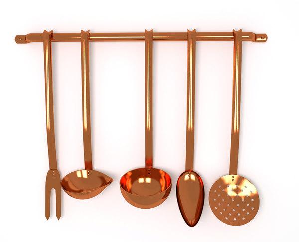 3D utensils set rack