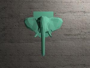 elephant head model