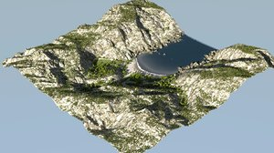 environment terrain blender 3D model