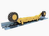 wall shearer harvester mining 3D model