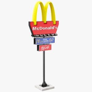 mcdonald sign 3D model