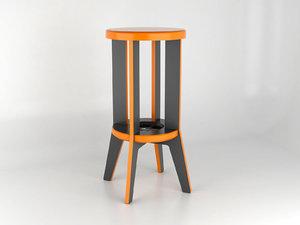 3D bar stool cnc