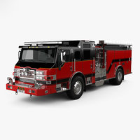 pierce truck pumper 3D
