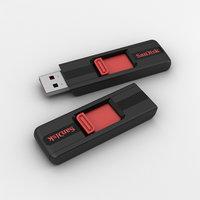 sandisk flash drive 3D model