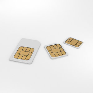 3D sim card set model