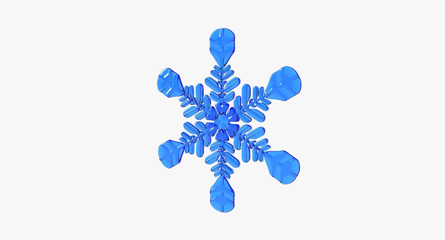 3D model realistic snowflake
