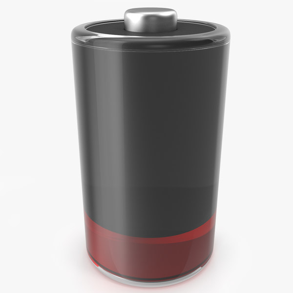 3D stylized battery icon