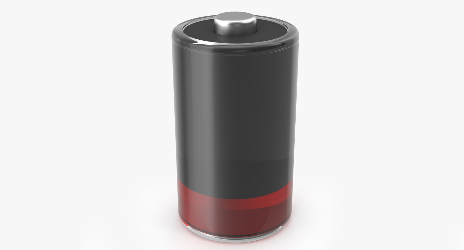 3D stylized battery icon