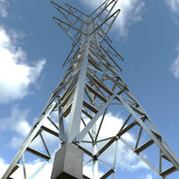 3D electrical transmission tower