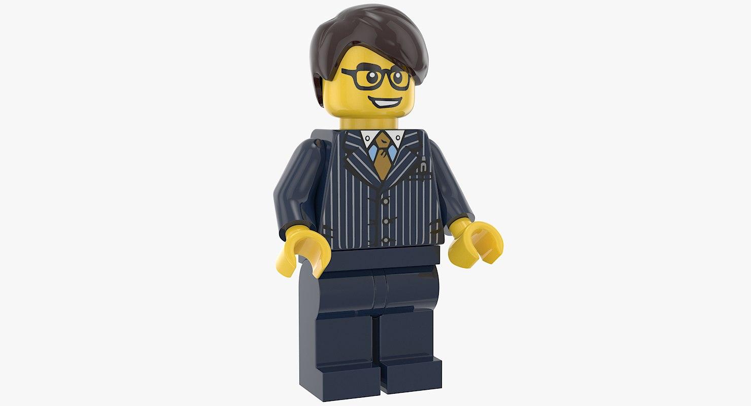3D model lego man executive