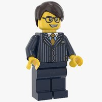 3D model lego man executive