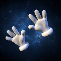 hands bones vertex 3d model