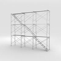 3D scaffolding industrial construction model