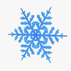 3D realistic snowflake 6 model