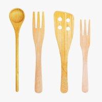wooden utensils 3D model