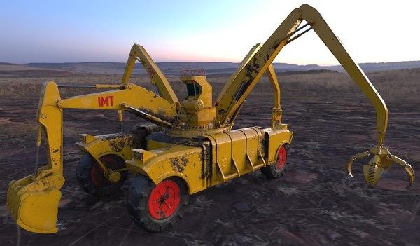 futuristic construction machine 3D