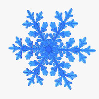 3D realistic snowflake 7