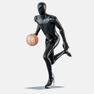 3D model faceless mannequins basketball