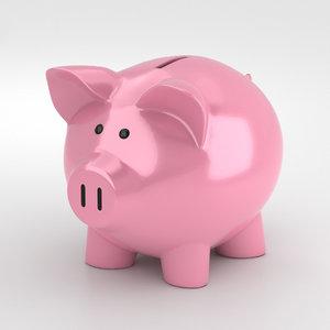 piggy bank pig 3D model
