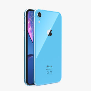 modern iphone xr blue 3D model