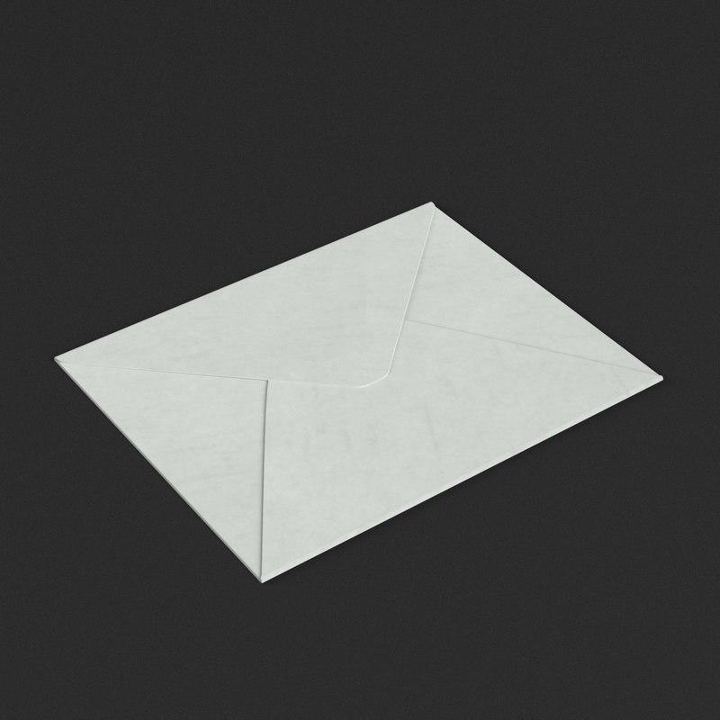 small envelope closed 3D model