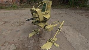 rigged walker 3D model