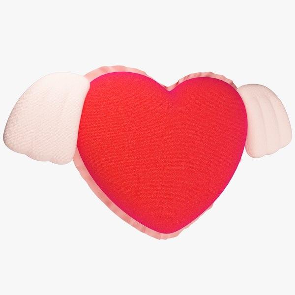 3D model stuffed heart
