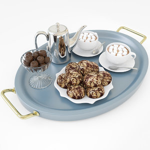 hot chocolate tray 3D model