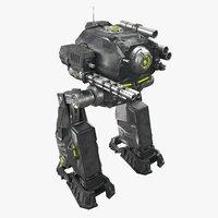 3D military mech model