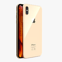 3D model apple iphone xs gold