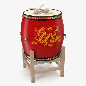 3D chinese drum model