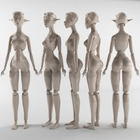 doll printing jointed 3D model