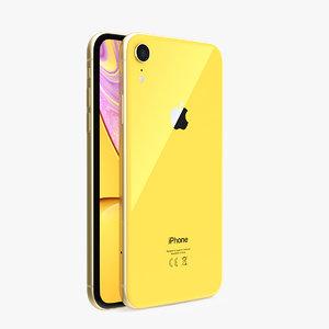 3D iphone xr yellow phones