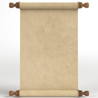 parchment paper scroll 3D model