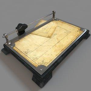 3D antique paper cutter