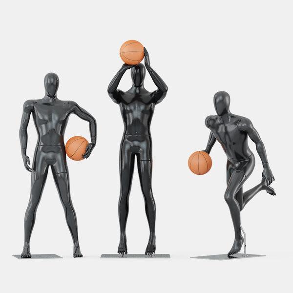 faceless mannequins basketball 3D