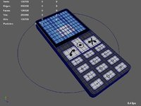 rigged cartoon cell phone 3D model