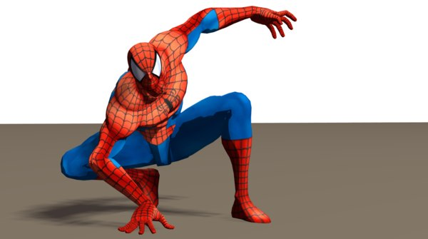 3D spiderman riggd model