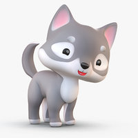 cute cartoon model