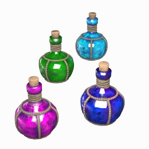 3D potion vial model